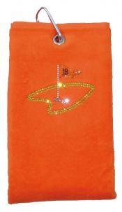 cbfmoda Golftuch &quote;18. Loch&quote;, orange