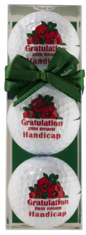 Golfball-Set &quote;Gratulation zum neuen Handicap&quote;