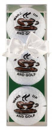 Golfball-Set &quote;Wake up and Golf&quote;