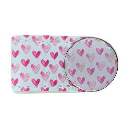 Crocodily Clip Ballmarker-Set, Pink Hearts