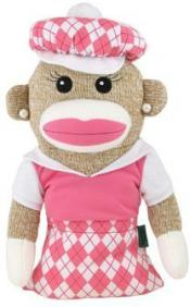 Golf Girl Sock Monkey Headcover &quote;Anna Banana&quote;