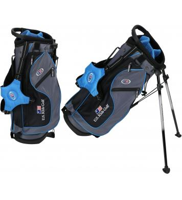 *2019* U.S. Kids Golf Ultralight Series Stand Bag (UL48 /122-130cm), grau/petrol