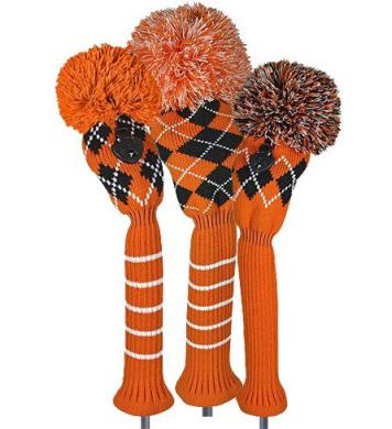 Bommel Strick Headcover, orange