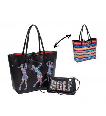 Sydney Love Golf Wendetaschen-Set Words with Golf Friends, schwarz